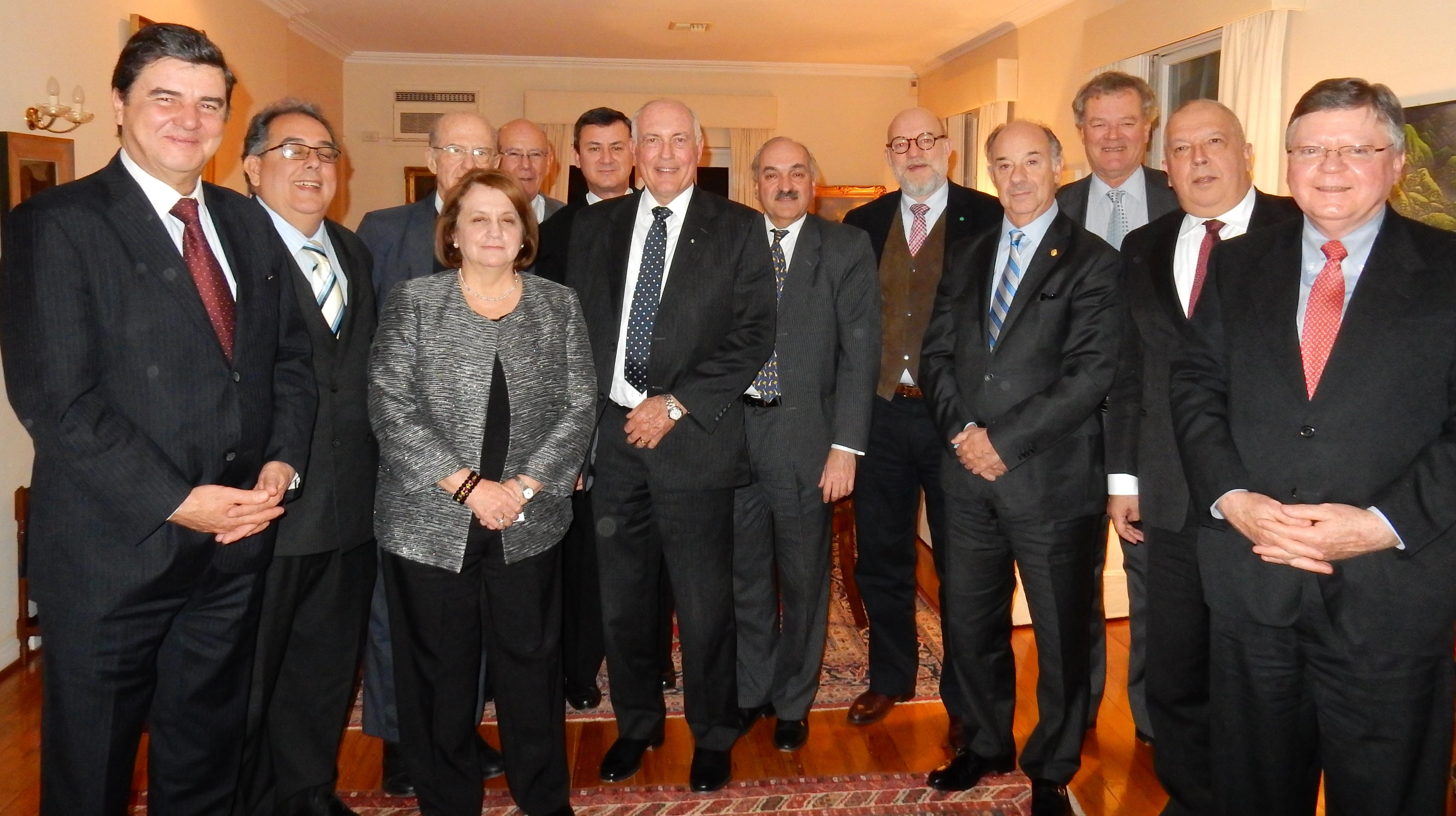 cena de trabajo del GRULA con el Vice Primer Ministro de Australia