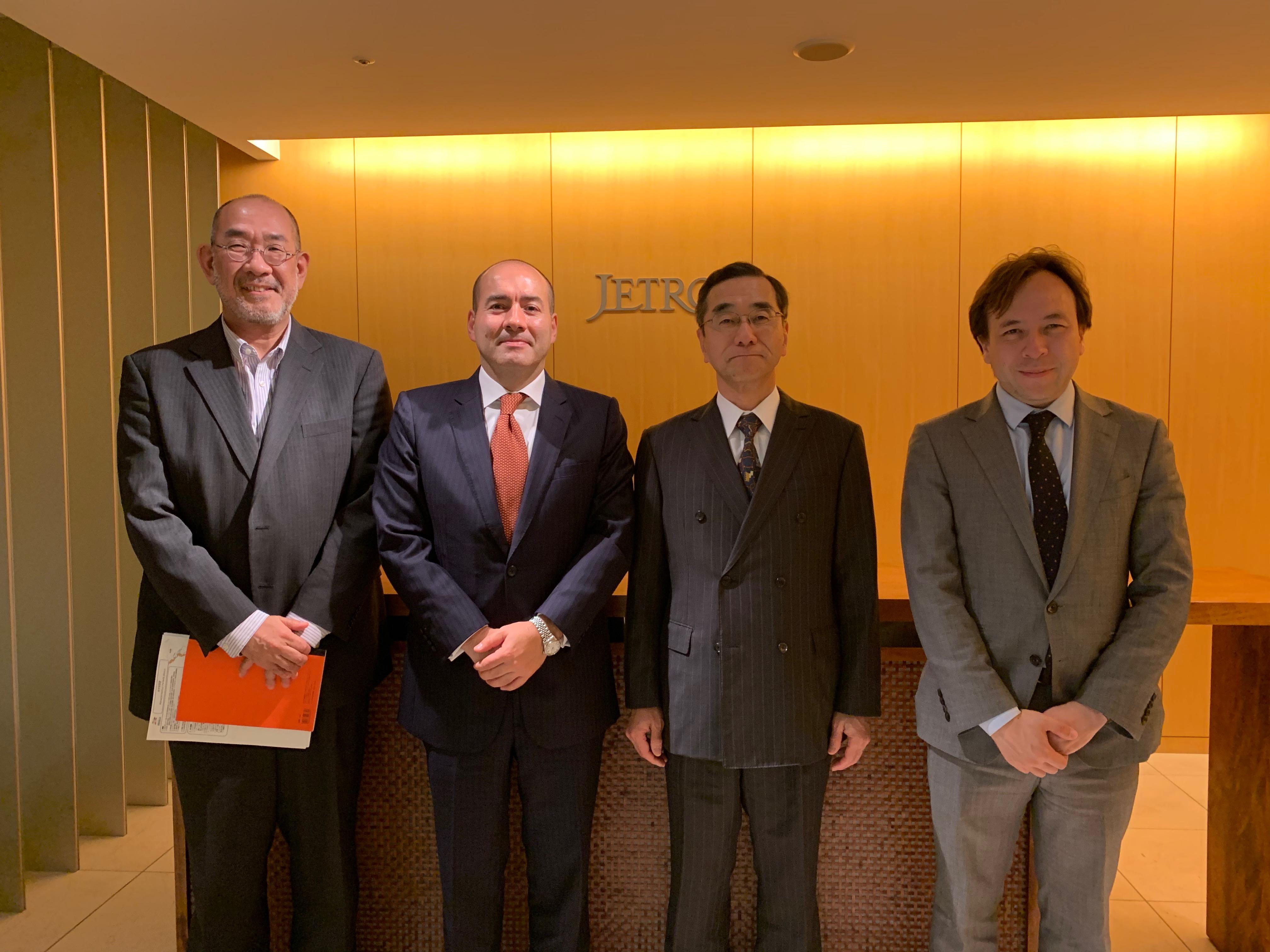 Embajador Santiago Pardo refuerza vínculos con la Organización para la Promoción de Comercio e Inversión de Japón (JETRO)