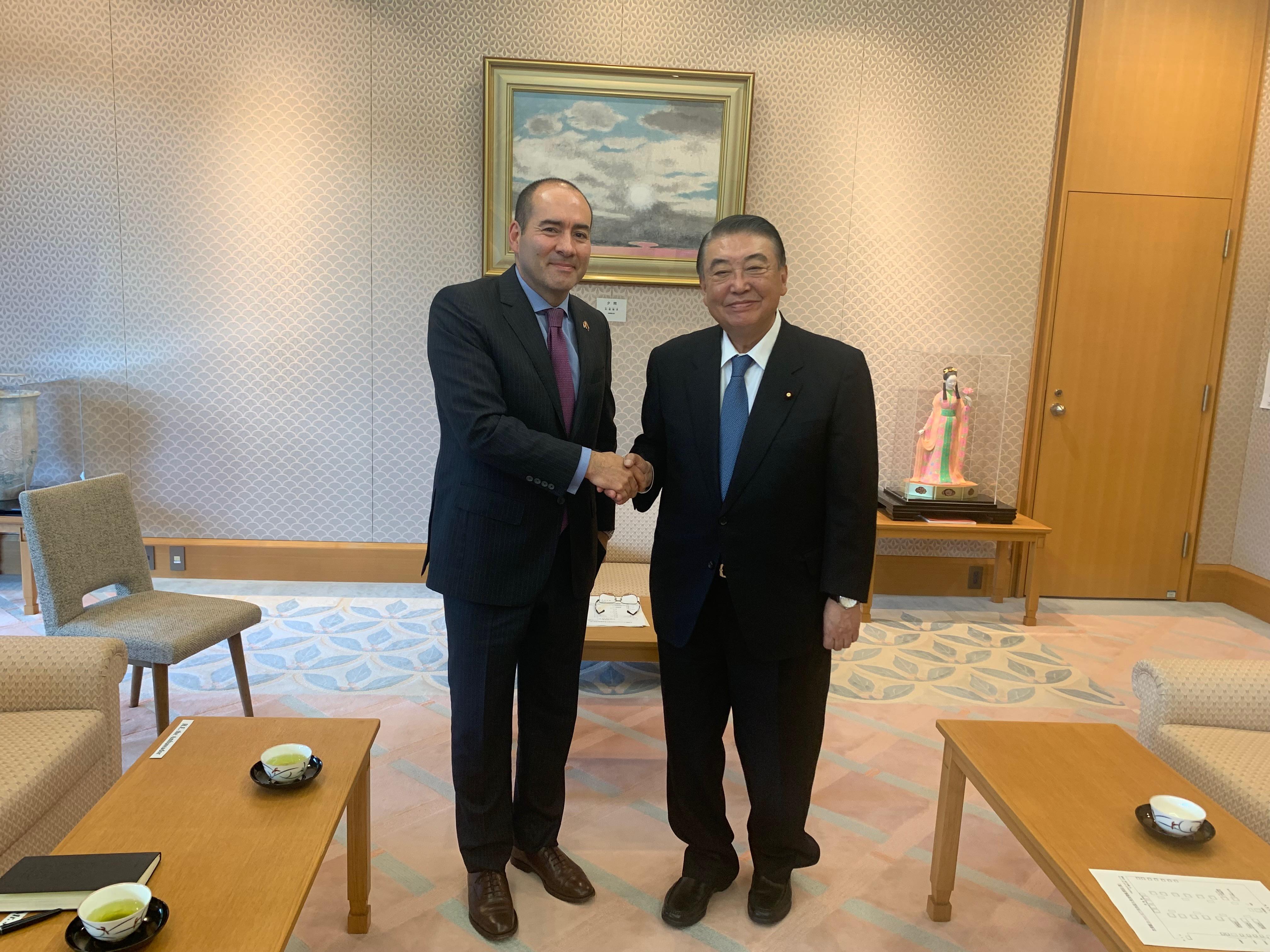 Embajador de Colombia fomenta alianzas estratégicas con el parlamento japonés